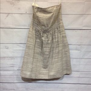 Banana Republic Strapless Dress Size 14 Beige